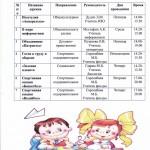 Расписание внеурочной деятельности 5-8 классы на 2018-2019 учебный год